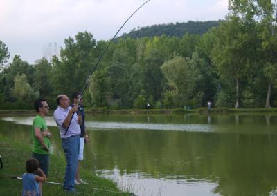 pesca en lago verde